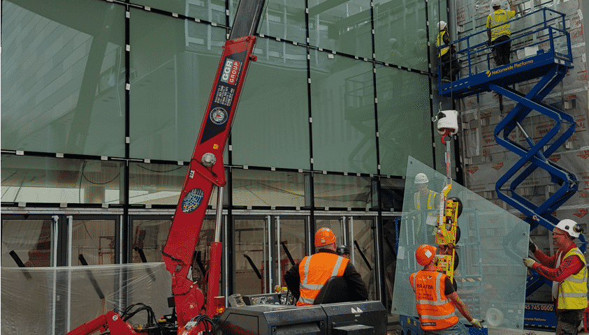 curtain wall installation